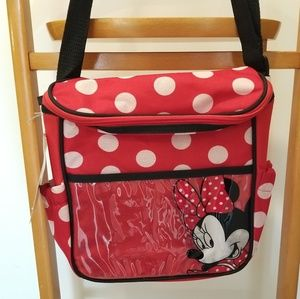 Disney Baby Minnie Mouse Diaper Bag Red Polka Dots